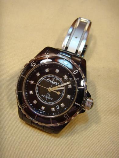 LV-H1626 J12黑12顆鑽錶-83291498