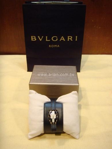 BVLGARI 蛇頭皮手環-83931058