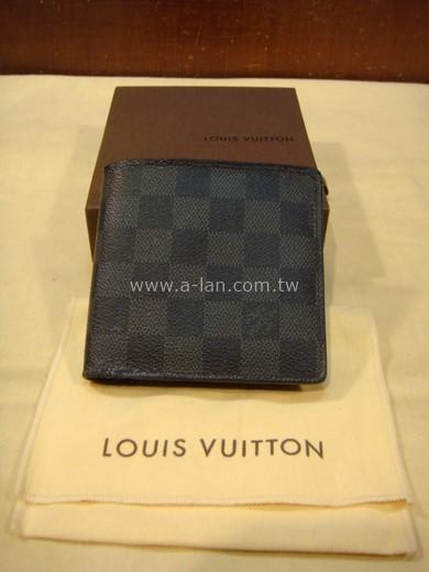 LV-N62664 黑格零錢短夾-84072818