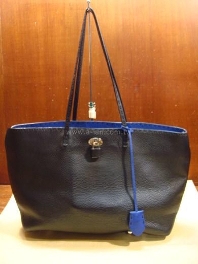 FENDI 黑皮購物包-84097588