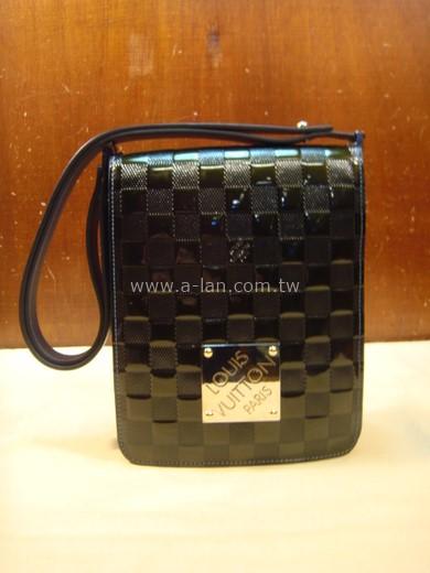 LV-綠棋格方塊長短包-84126438