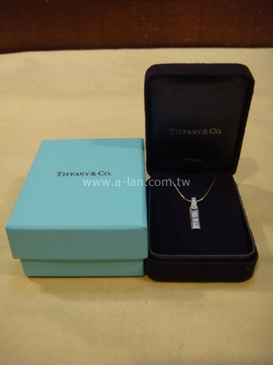 TIFFANY 羅馬數字K金鑽石項鏈-84229268