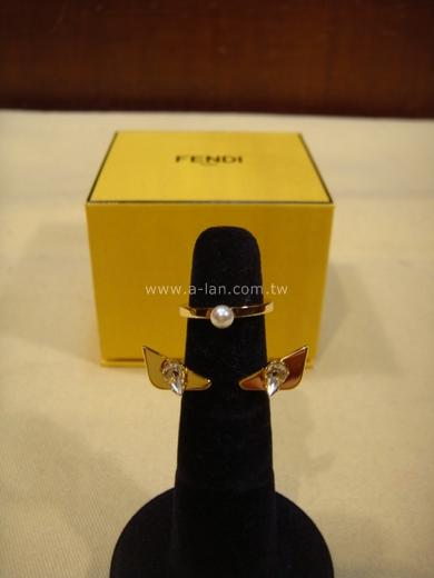 FENDI 怪獸水晶雙手戒-84285098