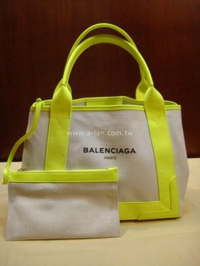 BALENCIAGA 黃麻布托特包-842994678