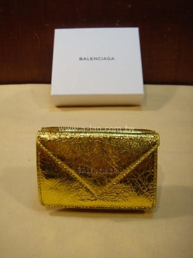 BALENCIAGA 金色信封夾式短夾-842996978