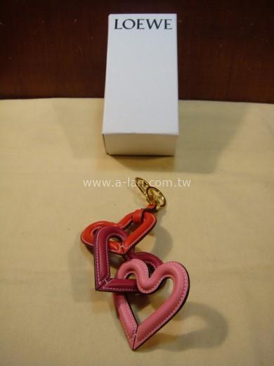 LOEWE Heart Chain Charm 粉皮串心掛飾-842998558