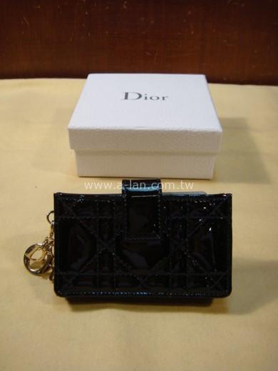 Dior 黑亮皮卡夾包-842998078