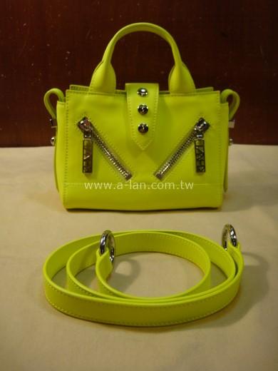 KENZO 螢光綠皮兩用包-842998358