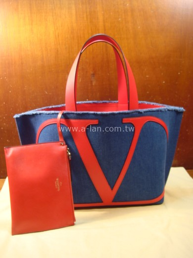 VALENTINO 單寧布雙購包-842998388