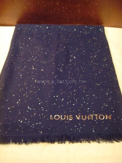 LV-M70394 喀什米爾金色滿天星披巾-842999178