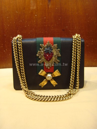 GUCCI 刺繡鏈肩包-842999808