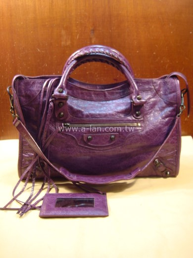 BALENCIAGA 紫色機車包-84582428