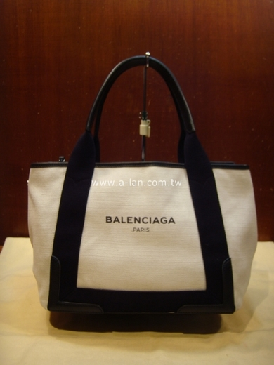 BALENCIAGA 白布雙肩包-84632148