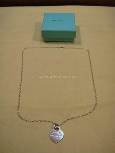 Tiffany 銀心項鍊-84666088