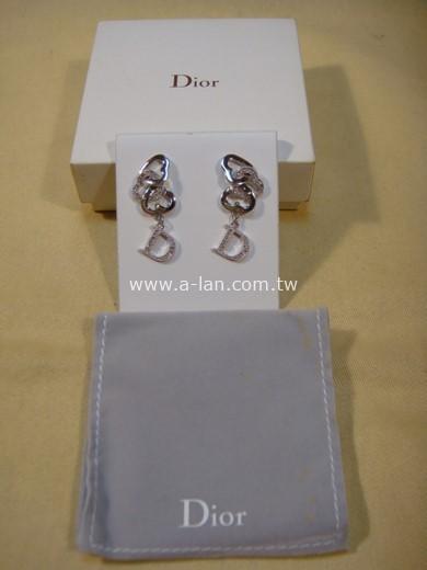 DIOR 雙D水晶耳環-84666148