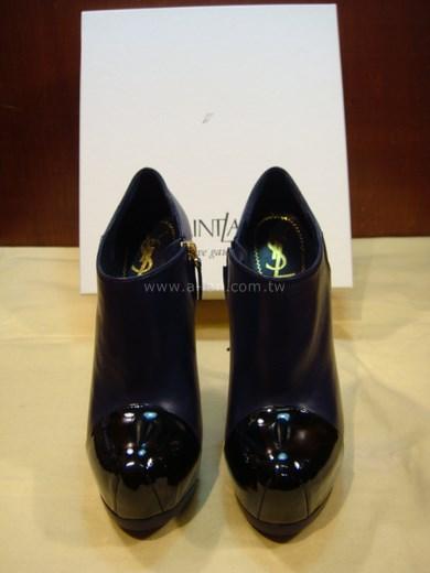 YSL 藍皮高跟鞋-84757028