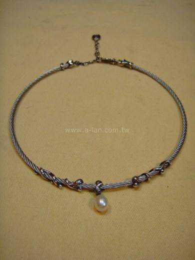 夏利豪鋼環珍珠項鏈-84816168