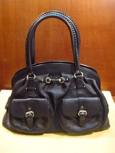 Dior 黑牛皮雙提包-84854018
