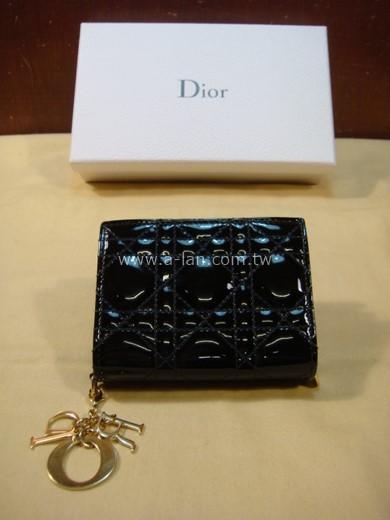 Dior 亮皮Logo短夾-85024248
