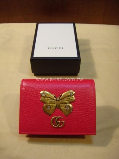 GUCCI 桃紅短夾-85180058