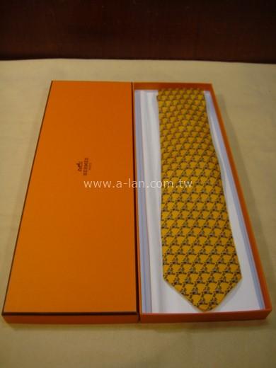 HERMES 黃色騎馬領帶-85215418