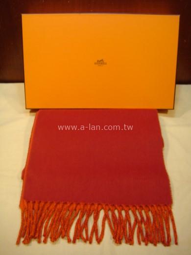 HERMES 喀什米爾雙色圍巾-85215608