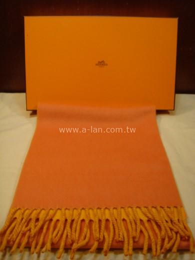 HERMES 喀什米爾雙色圍巾-85215618