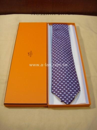 HERMES 紫色小綿羊絲領帶-85215758