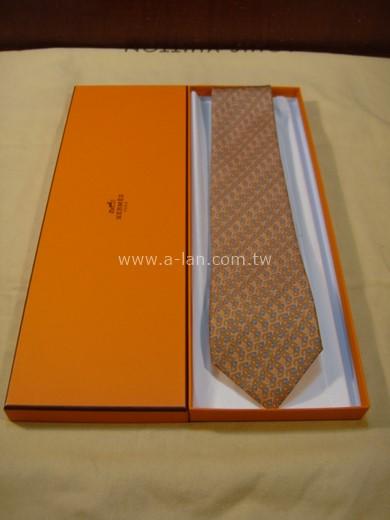HERMES 橘環絲領帶-85215768