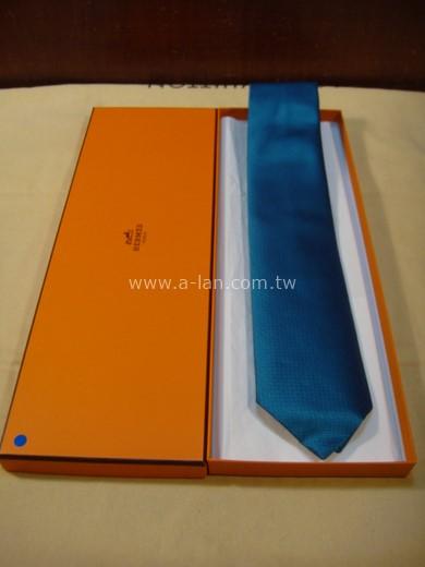 HERMES 青藍絲領帶-85215778