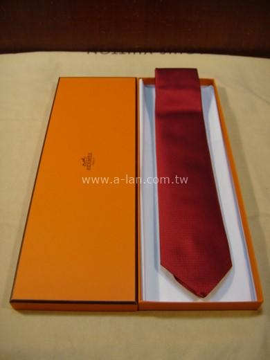 HERMES 紅絲領帶-85215788
