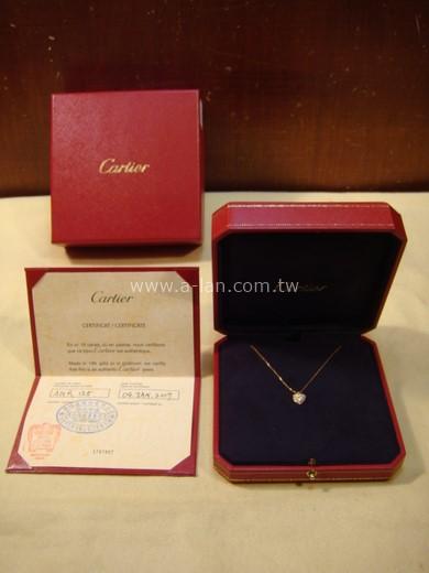 Cartier 鑽石心K金項鏈-85351018