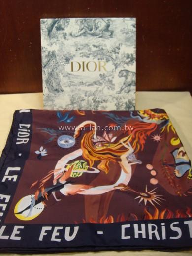 Dior 波紋絲綢大方巾-85370028