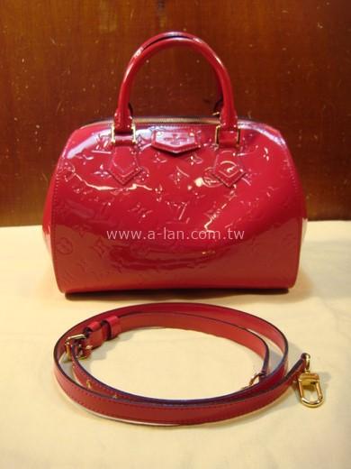 LV-M90084 桃紅漆皮雙提包-85374048
