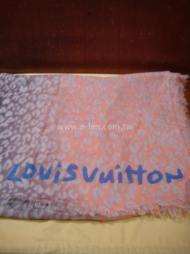 LV-紫粉皺折披巾-85379098