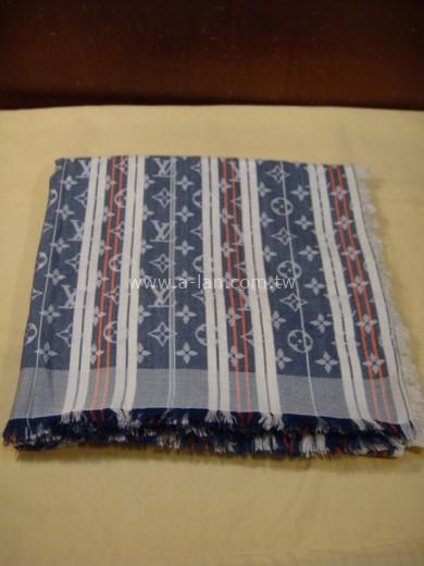 LV-M75248 藍白條logo大圍巾-85379138