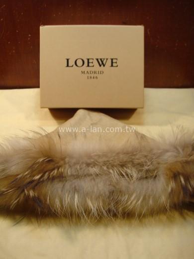 LOEWE 羊毛三角圍巾-85382288