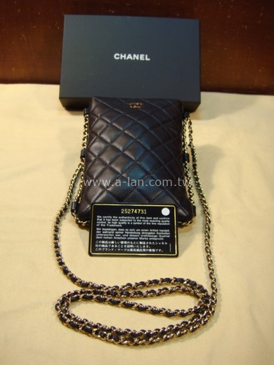 CHANEL 小羊皮手機鏈包-85382778