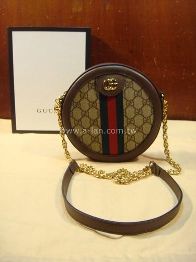 GUCCI Ophidia mini GG 斜背圓餅包-85419018