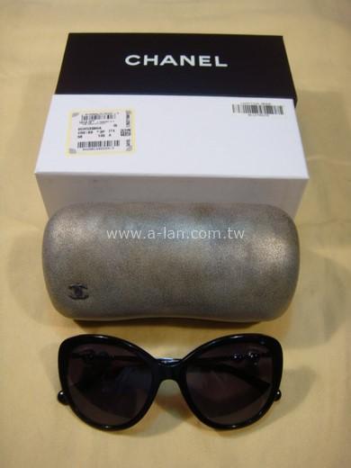 CHANEL 珍珠膠框墨鏡-85486018