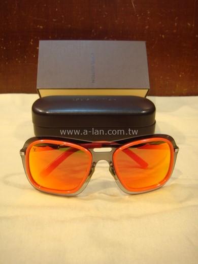 LV-Z0302U 橘框咖鏡面太陽眼鏡-89830398