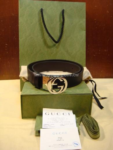 Gucci Signature皮革双面腰带-89830528