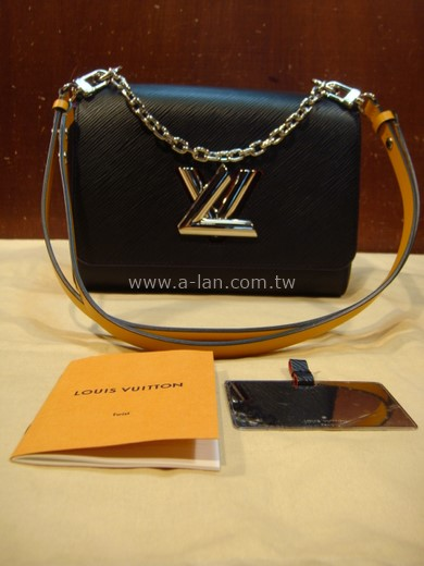LV-M53885 Twist MM Bag Black Epi Leather-89830598