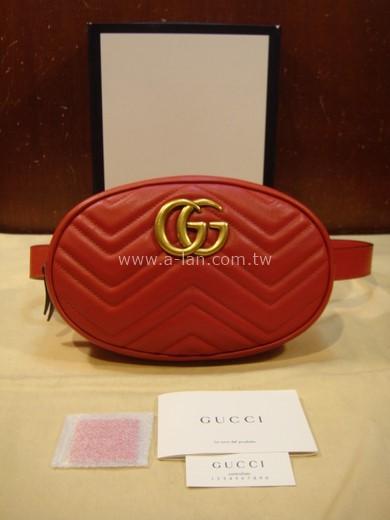 GUCCI GG Marmont 絎縫皮革腰包-89830978