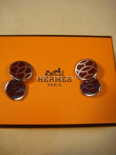 HERMES 雙圓型袖釦-89845648