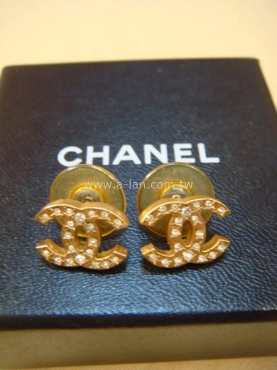 CHANEL 雙C水鑽耳環-89845768