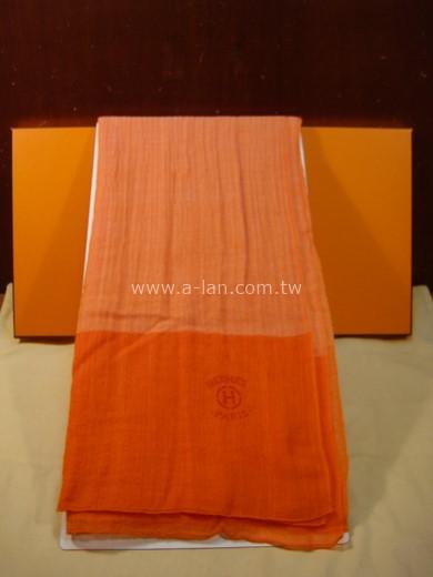 HERMES 雙橘長絲巾-89846238