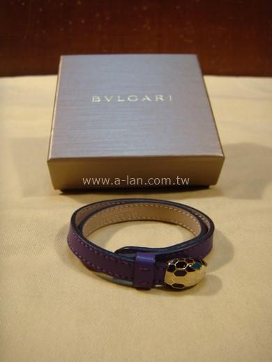 BVLGARI 寶格麗蛇頭皮手環-89847048